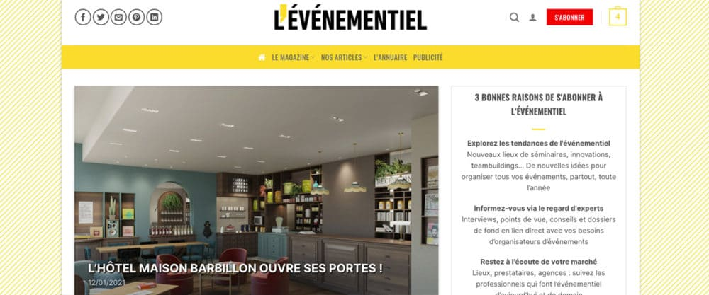 illustration site web Evenementiel