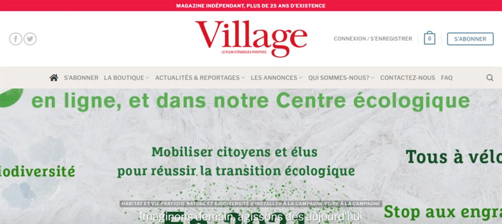 illustration site web Village